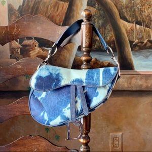 ✨Authentic Christian Dior Denim Print Saddle Bag ✨